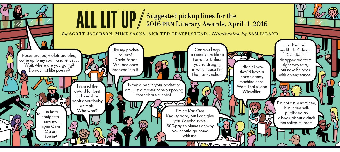 Coffee Table Pick Up Line.10 Pickup Lines To Use At The Pen Literary Awards Vanity Fair